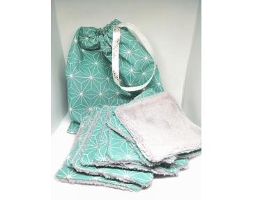 Lingettes bleues +  sac