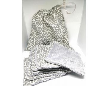 Lingettes grises + sac