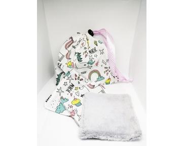 Lingettes licorne + sac
